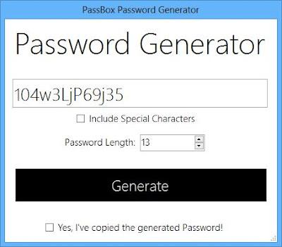 PassBox Şifre Yönetici