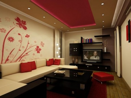 Deco Chambre Interieur Papier Peint Floral Pour Le Salon