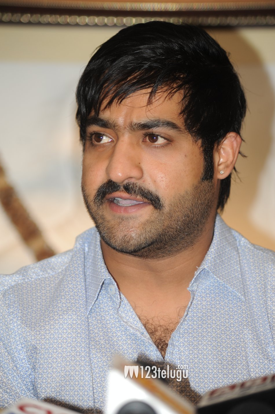 crazeemen: indian actor junior NTR with different hairstyle and look