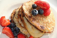 Pannekaker u/egg og melk, med havregryn