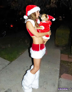 Leilani Dowding @ Leilani Dowding in a Santa Outfit in Los Angeles