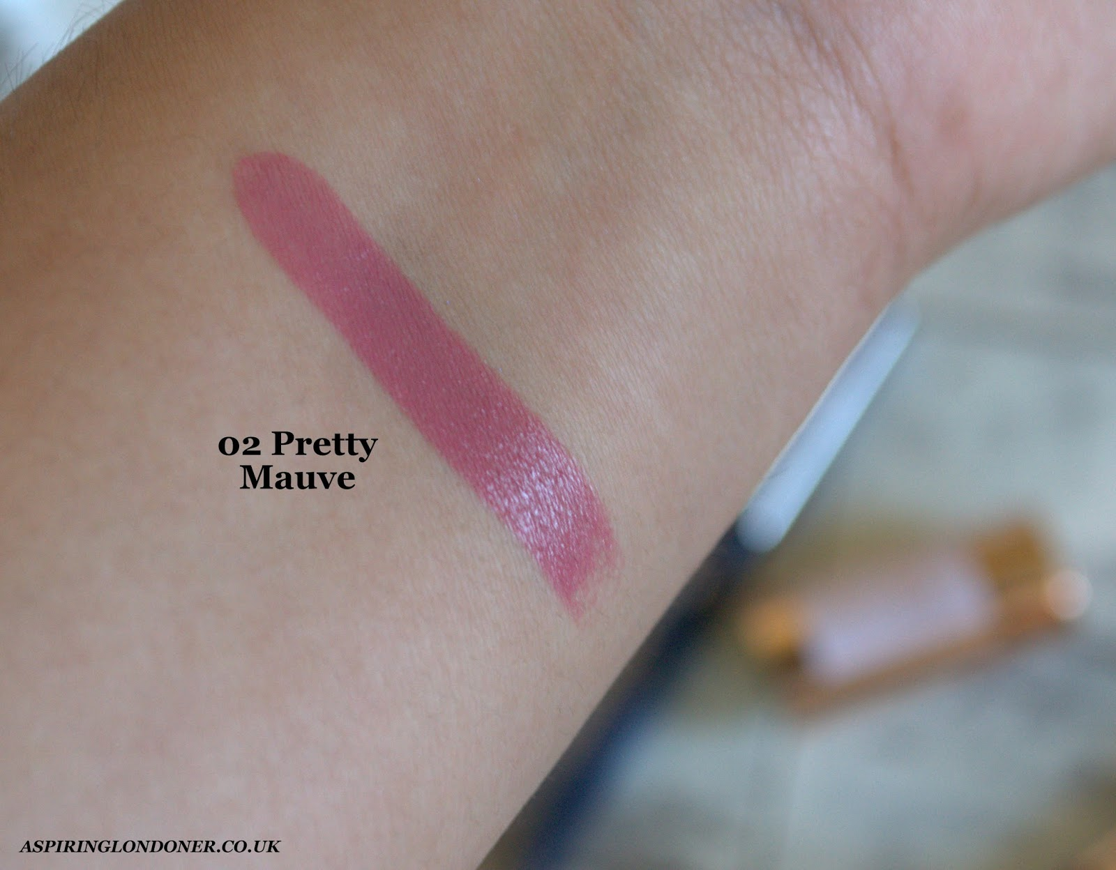 Kiko Rebel Romantic Intensely Lavish Lipstick Pretty Mauve Swatch - Aspiring Londoner