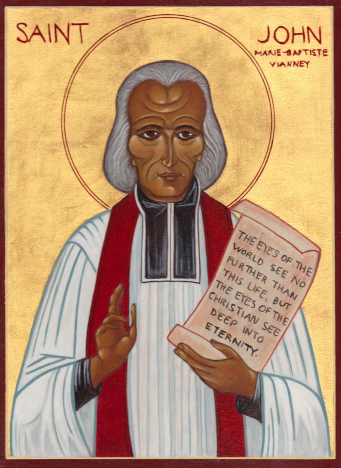 simplex intuitus saint john vianney icon