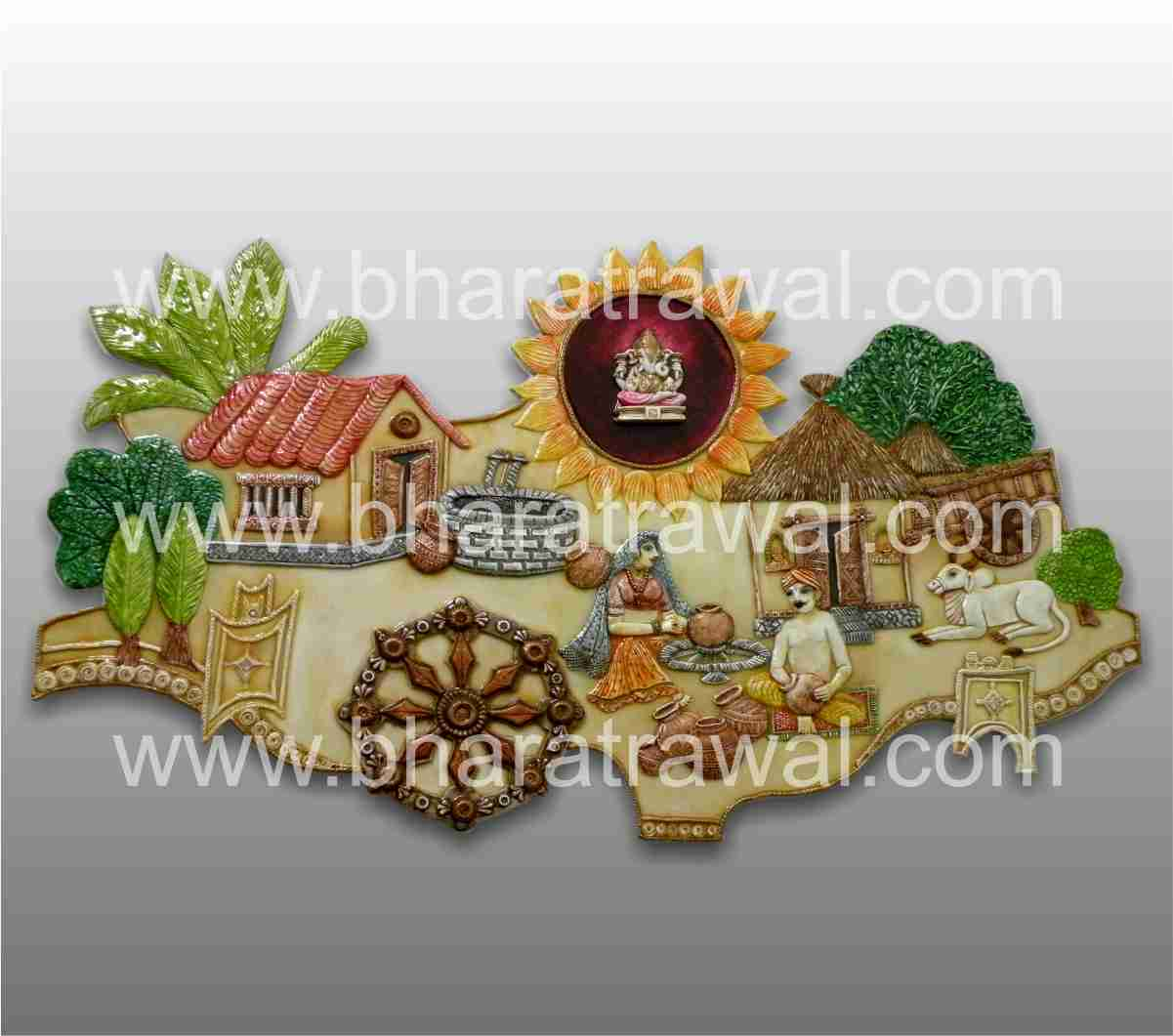 Mural art by muralguru bharat rawal ceramic murals a for Ceramic mural painting