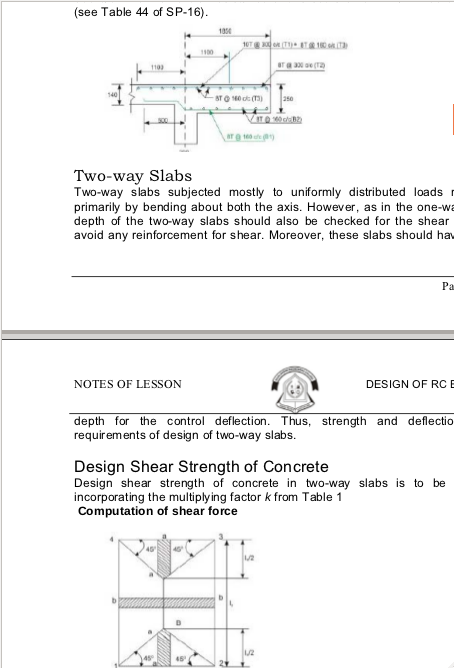 Design Of RC Elements Lecture Notes