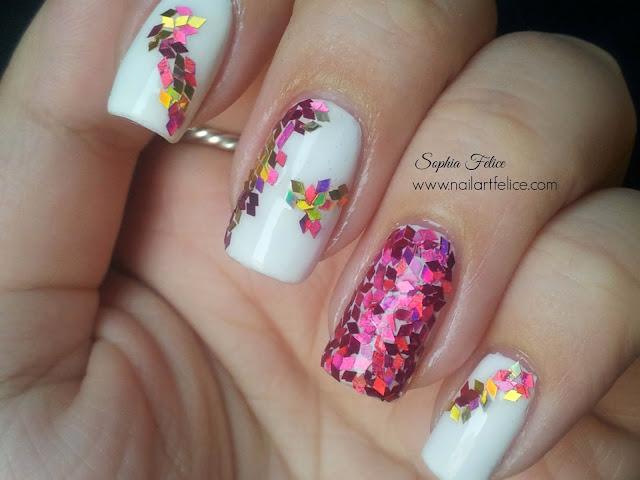Z Glitter Nail Art 4