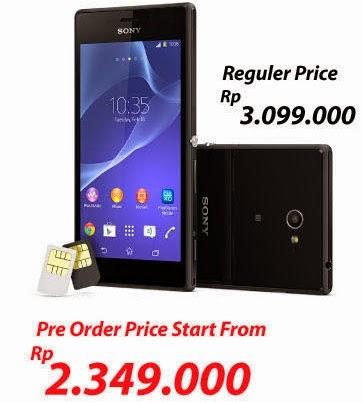 Sony Xperia M2 Dual SIM harga mulai Rp 2.349.000