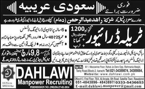 FIND JOBS IN PAKISTAN DRIVER HTV JOBS IN PAKISTAN LATEST JOBS IN PAKISTAN