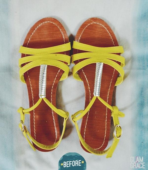 DIY sandal embellishing