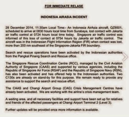 Berita Terkini Pesawat AirAsia QZ 8501 Hilang Dari Radar Di Indonesia