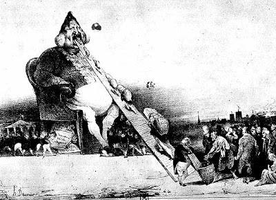 Gargantua, la caricatura del Re Luigi Filippo disegnata da Honorè Daumiere