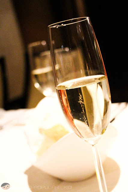 Complimentary Sparkling Wine from Tosca