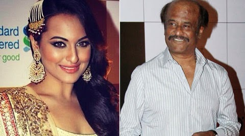 Sonakshi Sinha with Rjnikanth