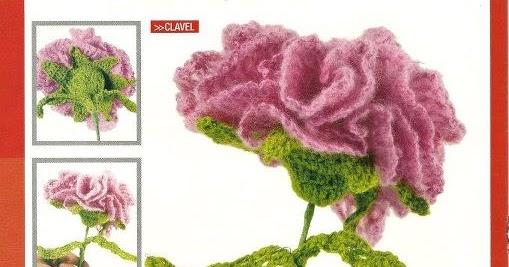 El baúl de la Nona: Clavel a crochet