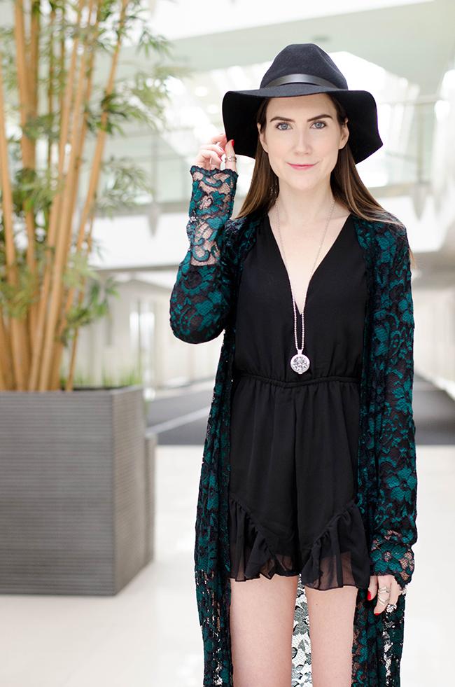 Reverse Fashion Black Playsuit
