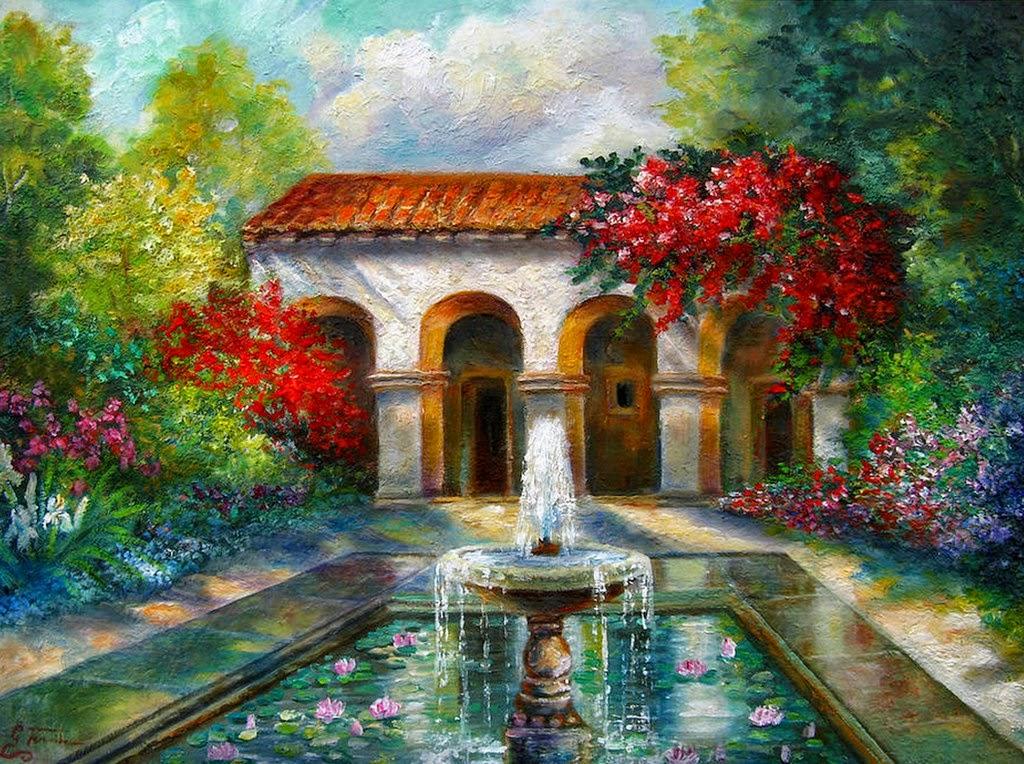 Im genes arte pinturas cuadros al leo de paisajes - Paisajes de casas ...