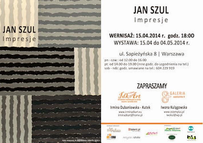 """""""Impresje"""" – Wernisaż malarstwa Jana Szula. Zaproszenie na wystawę."""