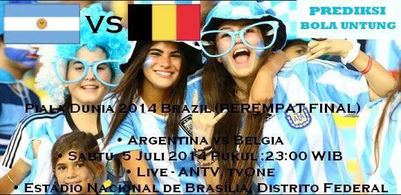Prediksi Skor Argentina vs Belgia 05 Juli 2014 Piala Dunia