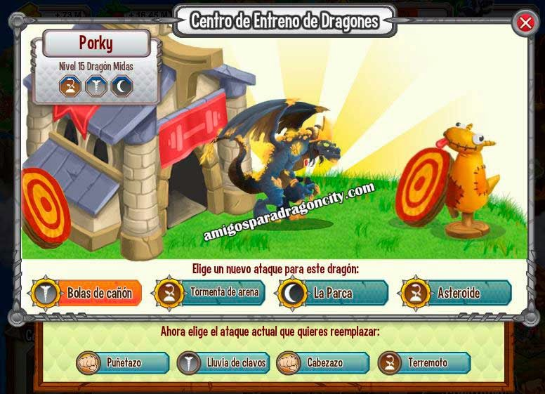 imagen de los ataques del dragon midas