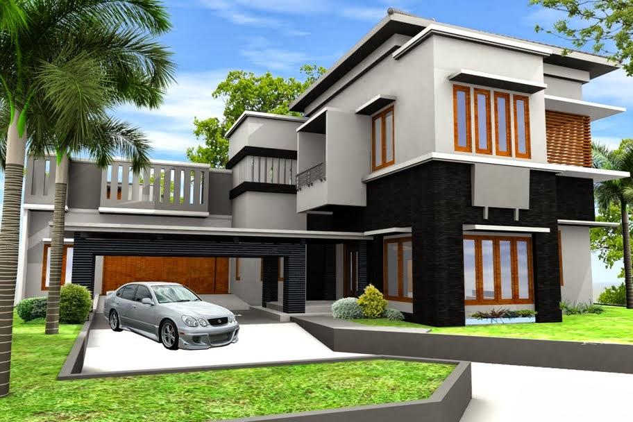 inspirasi warna cat rumah minimalis contoh disain rumah