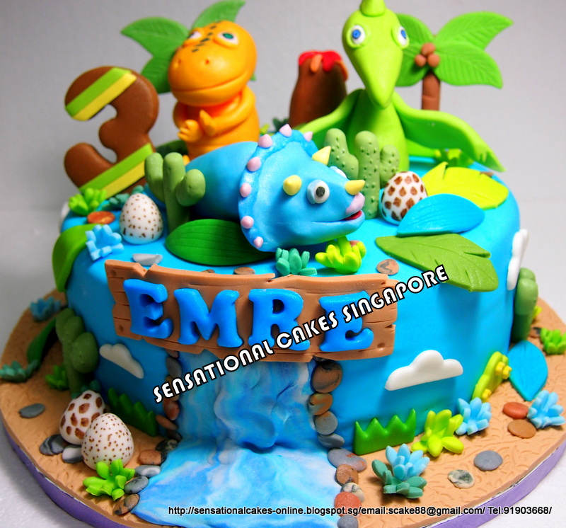 The Sensational Cakes: DINOSAUR TRAIN CAKE SINGAPORE