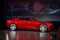 2016 New Chevrolet Camaro SS performance side view at show