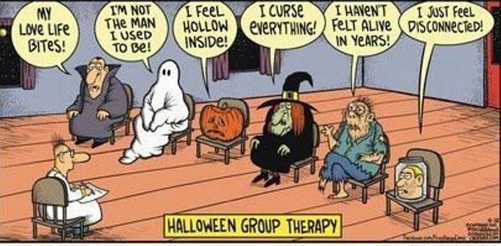halloween group therapy mystery fanfare cartoon of the day halloween group therapy