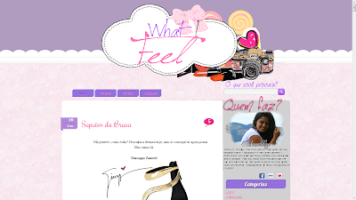 personalização what i feel template layout