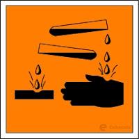 Macam-macam Simbol Keselamatan Kerja di Laboratorium - Korosif - echotuts