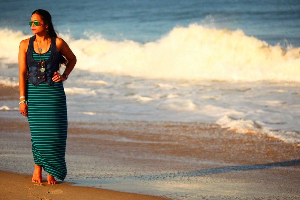 Travel Wear, Maxi Dress, Ocean City, Tanvii.com