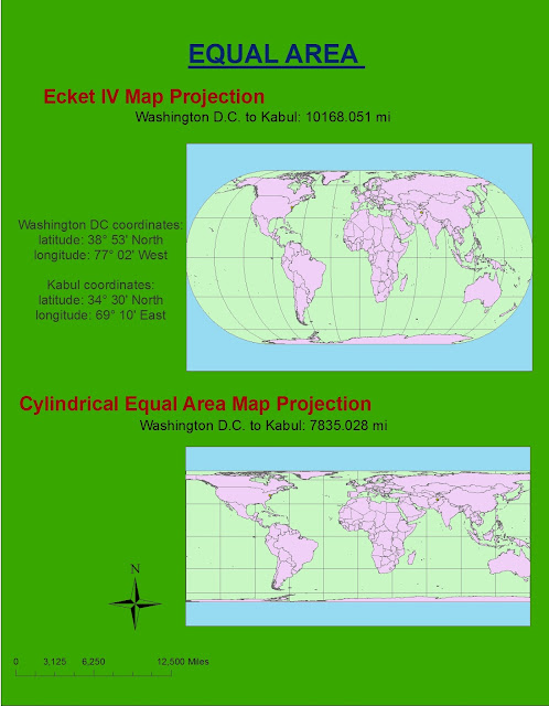 equal area projection map Selected map projections cylindrical projections cylindrical equal area cylindrical equal-area projections have straight meridians and parallels, the meridians are equally spaced, the.