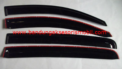 Talang Air All New Aveo Mugen Hitam 3M Depan Belakang