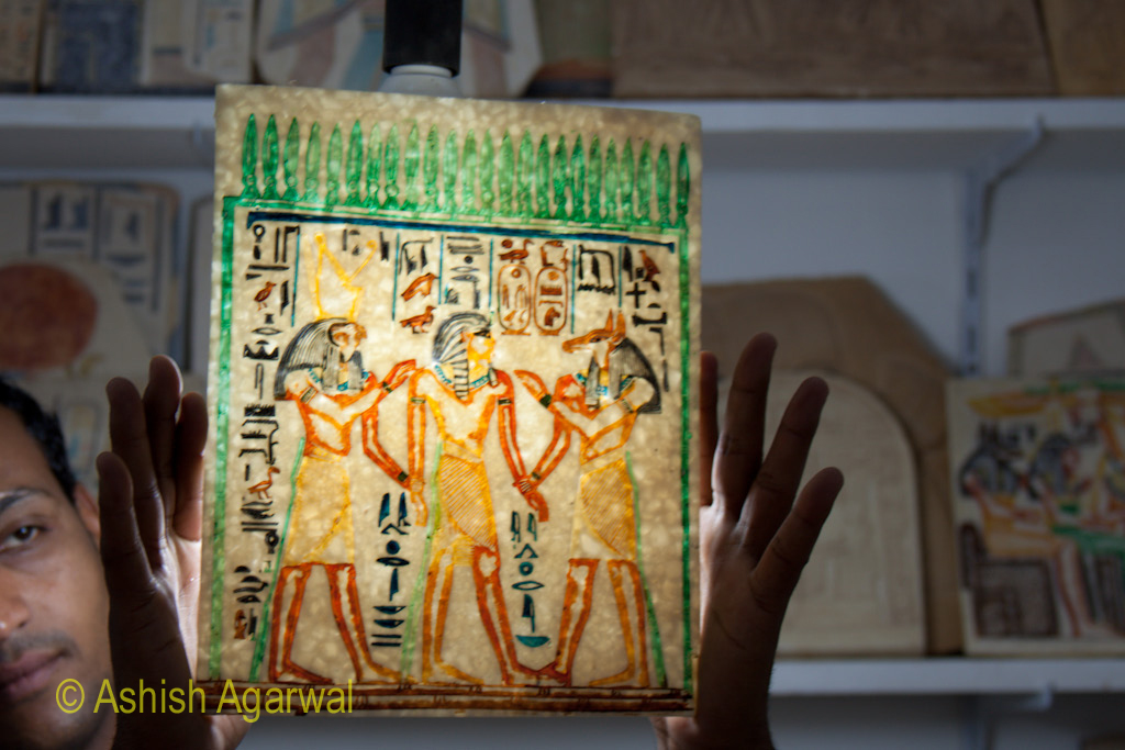 Closer look at the interaction between the Gods and the Pharaohs, as depicted on a tablet