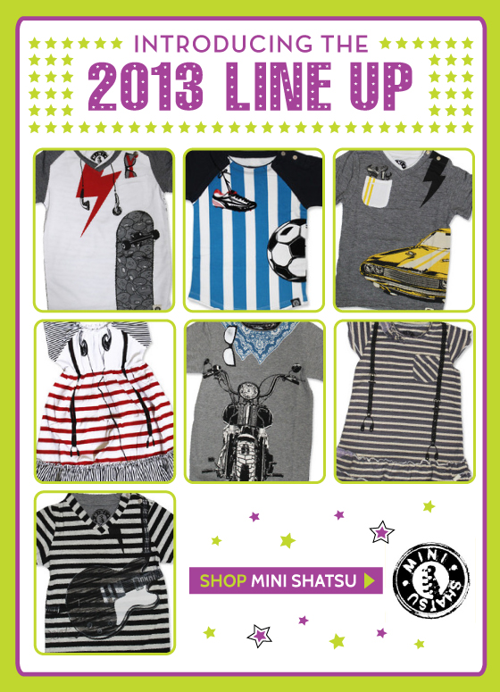 Mini Shatsu Tees, Dresses and Clothing for Babies and Kids