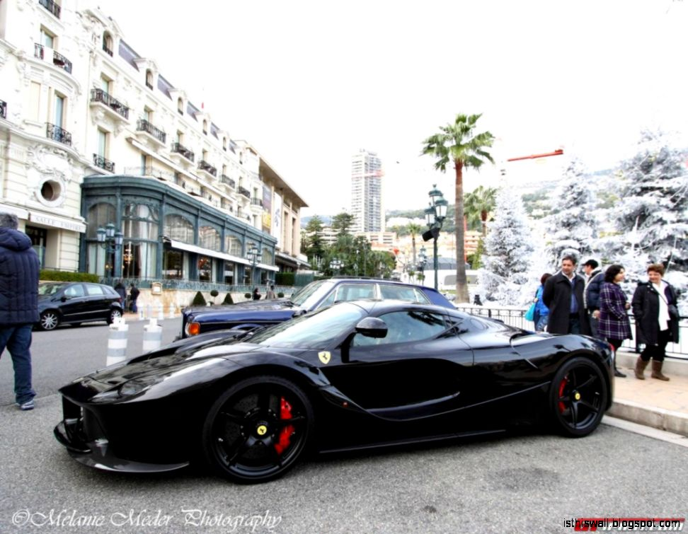black laferrari Images   Two Ferrari LaFerraris get posed in Monaco