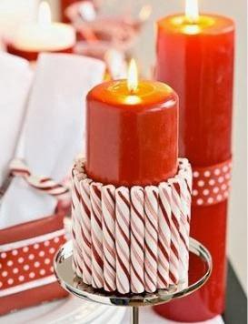 Decoraci n de navidad con velas portal de manualidades - Adornos navidenos con velas ...