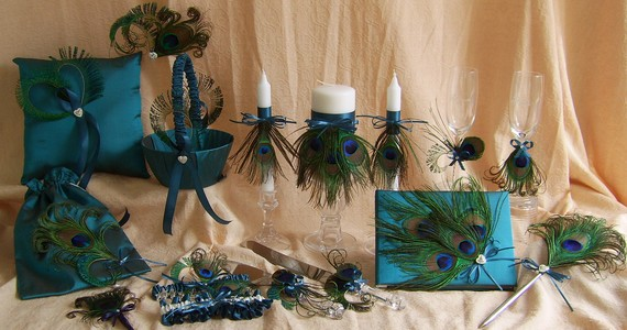 From Peacock Wedding Inspiration PostAThon on The Wedding Bee