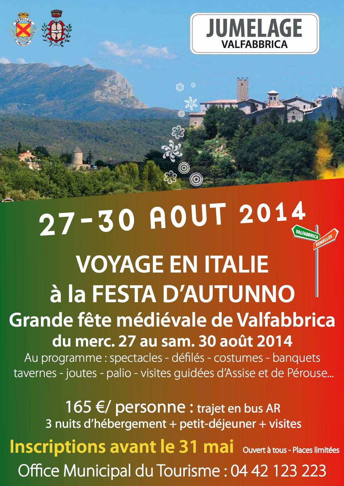 Le blog du pays d 39 aix voyage en italie inscription l - Office du tourisme de champagny en vanoise ...