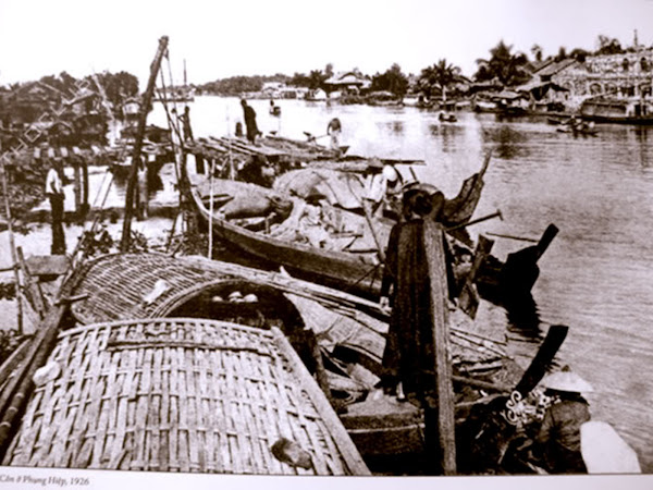 Foto antigua del Mercado flotante de Can Tho - Vietnam