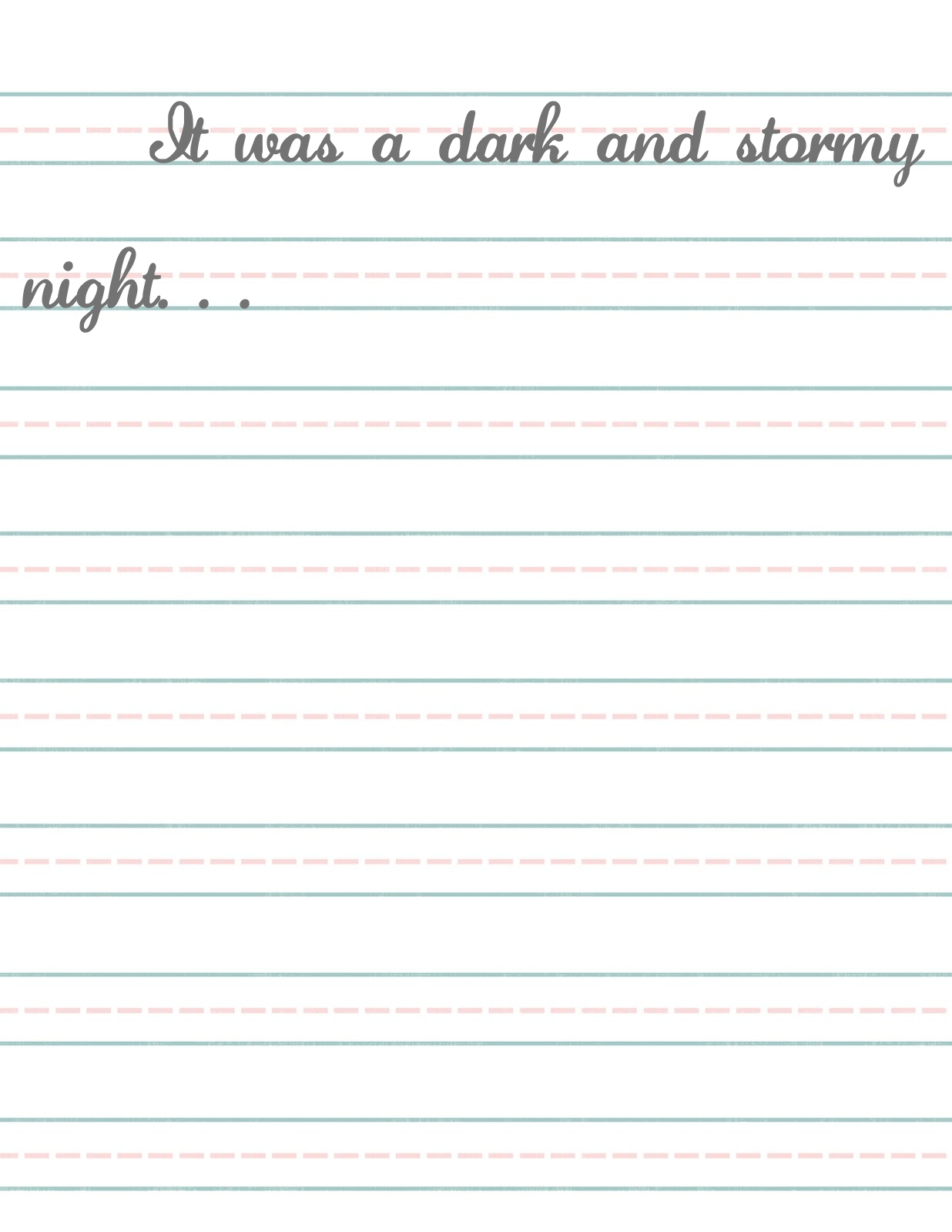 Elementary Lined Paper Template  Can You Print On Lined Paper