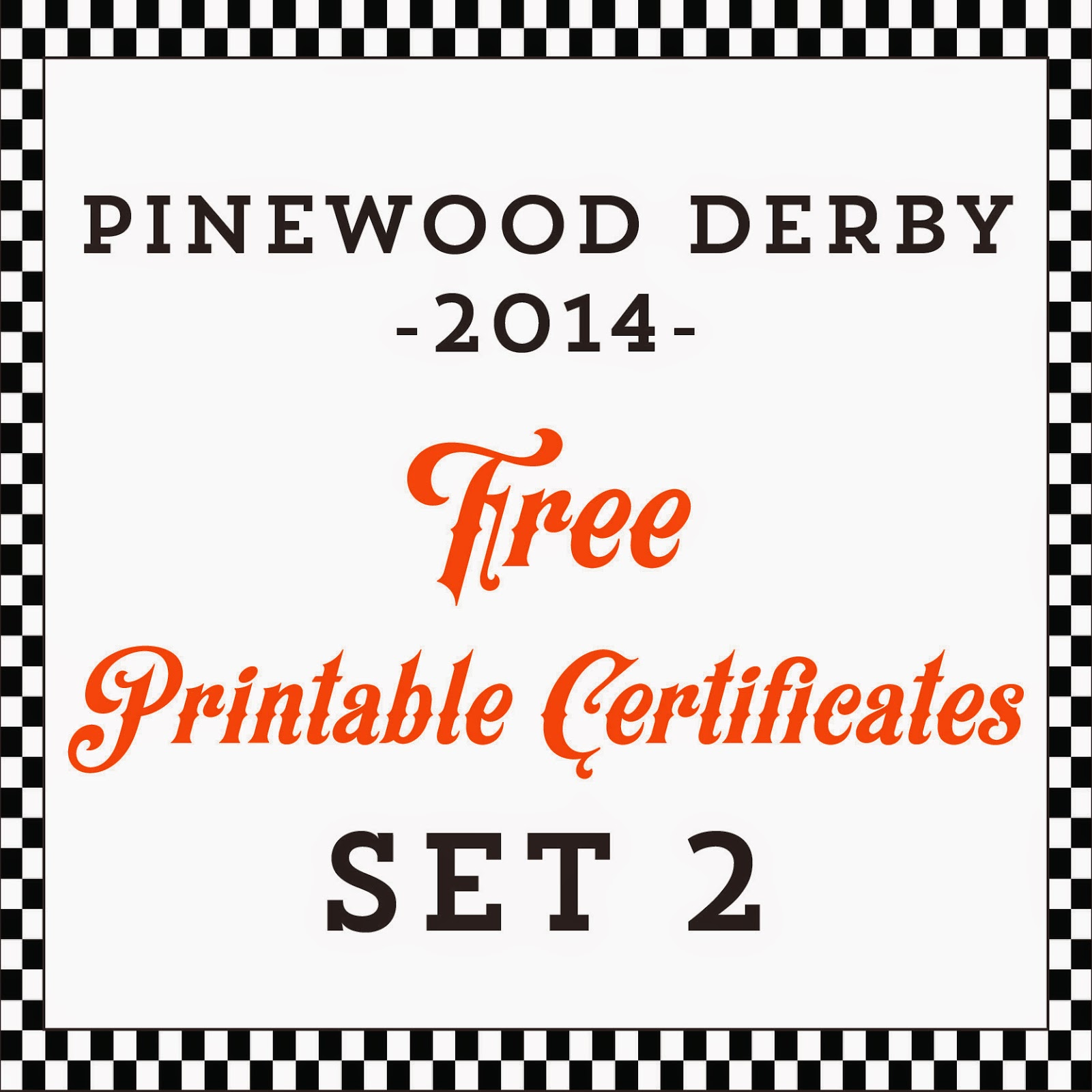 Hot Commodity Home Decor: Free Printable Pinewood Derby Awards