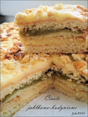 Ciasto jabłkowo - budyniowe