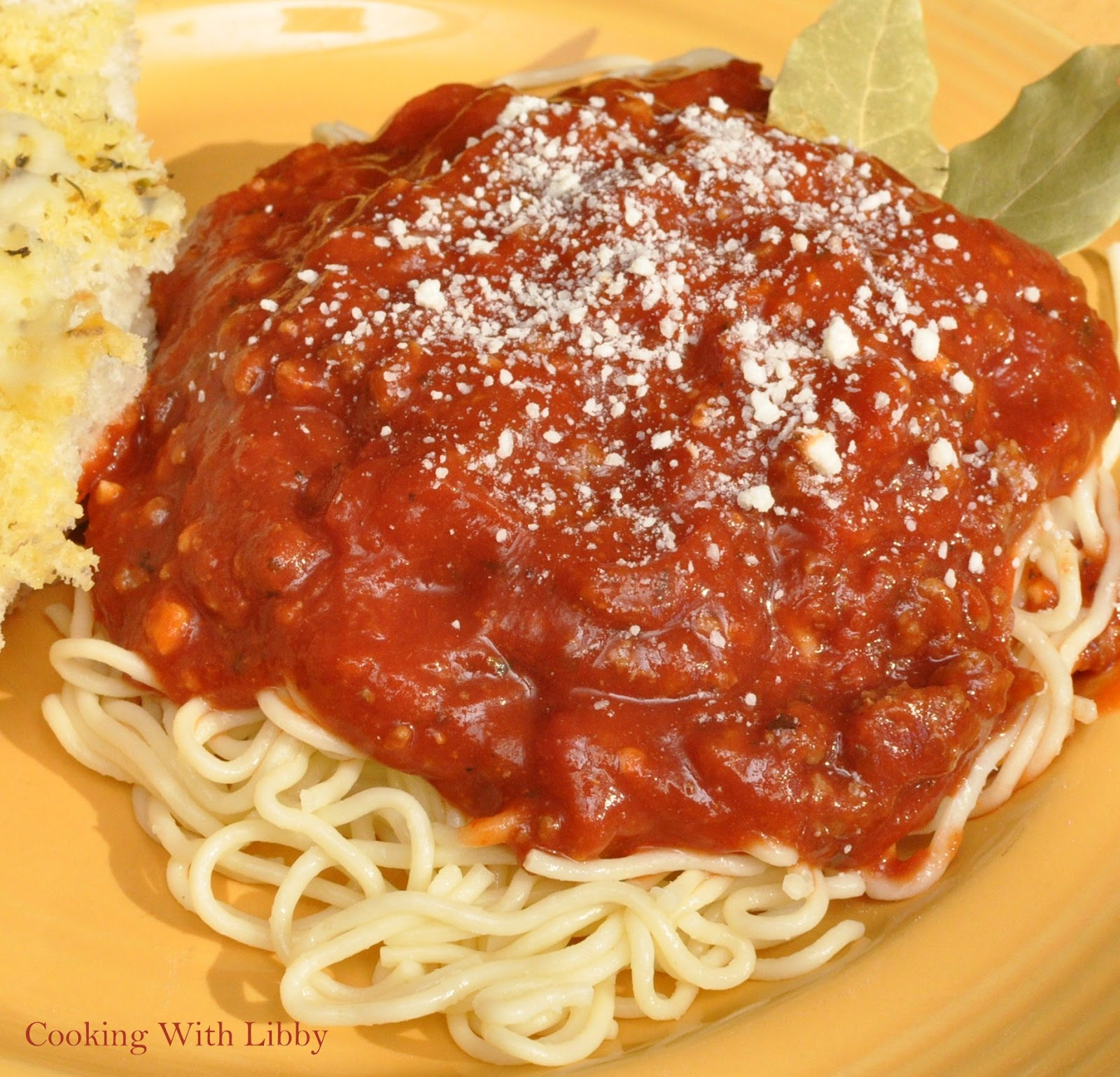 Cooking With Libby: Slow Cooker Spaghetti Sauce