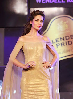 2 Esha Gupta in Golden Gown at Blenders Pride Event.jpg