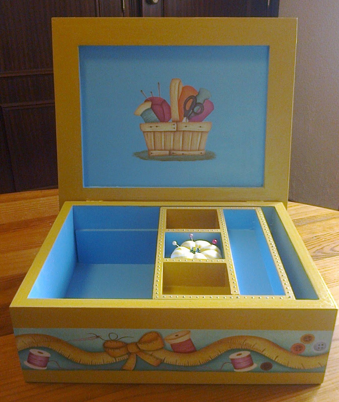 Interior da caixa