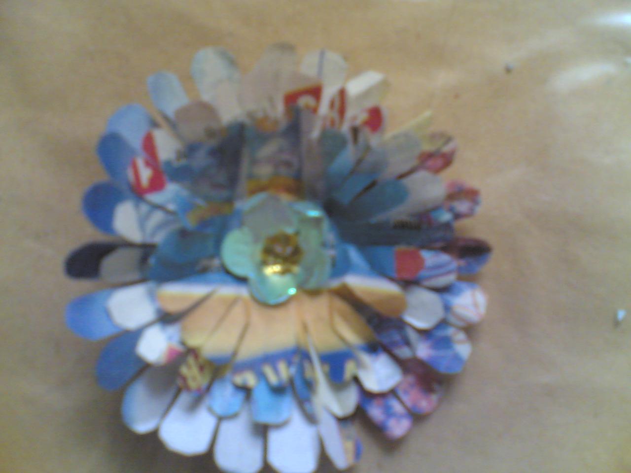Creative Things News Paper Flower 3