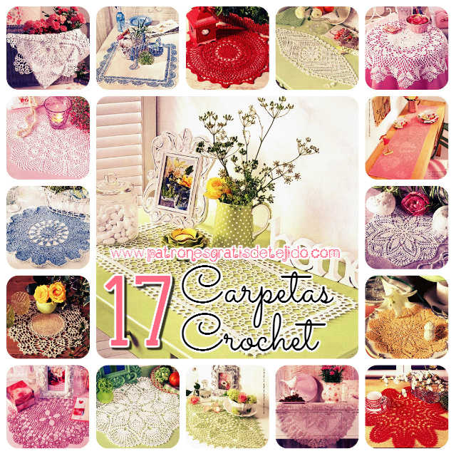 17 patrones de carpetas tejidas al crochet