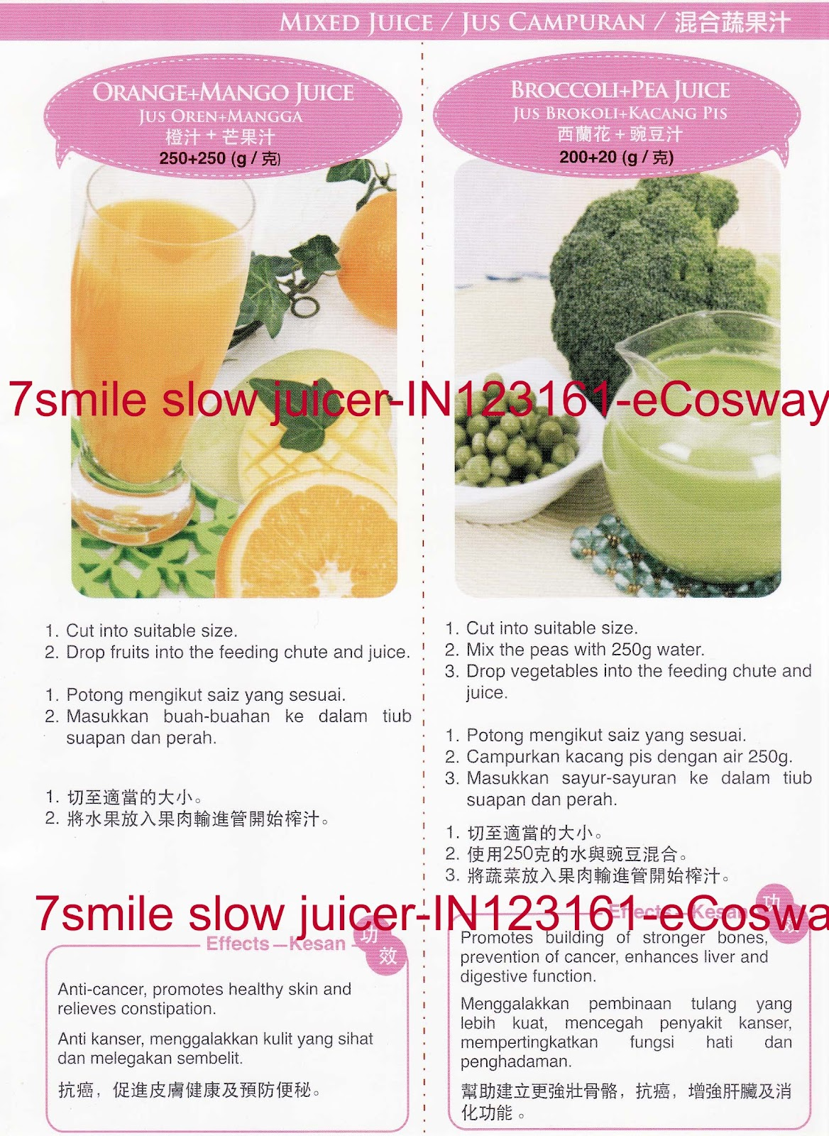 Slow Juicer Mango : 7 Smile Slow Juicer