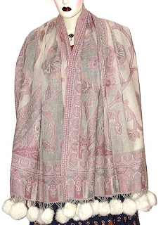 Fashion Poncho Shawl Jacquard Designs