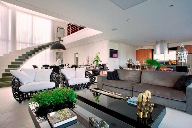 """Decoracion De Interiores Baños Minimalistas:Moderna y Minimalista """"Residência NJ"""" / PUPOGASPAR Arquitetura"""